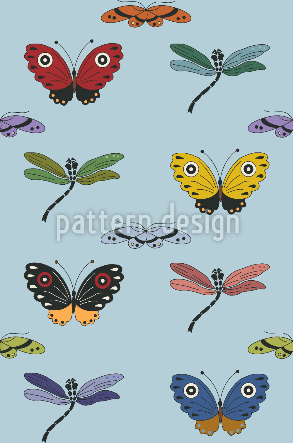 Designtapete Insekten Zauber