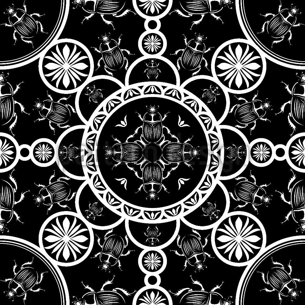 Designtapete Skarabäus Musterdesign