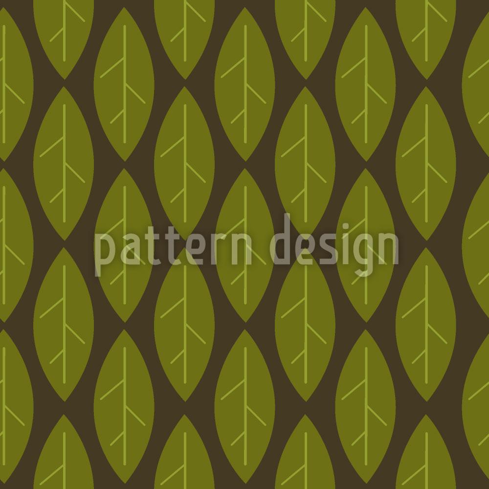 Designtapete Grosse Blätter