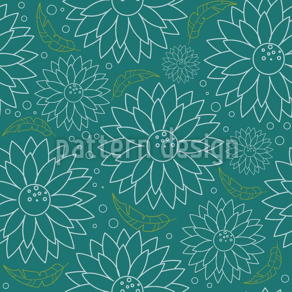 Designtapete Blühende Blumen