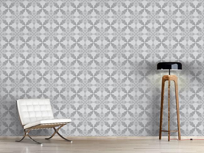 Designtapete Marokkanisches Grau
