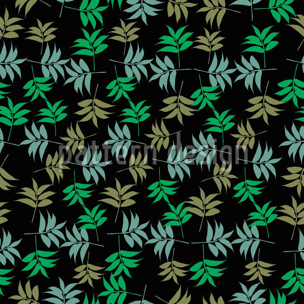 Designtapete Eschen Blätter