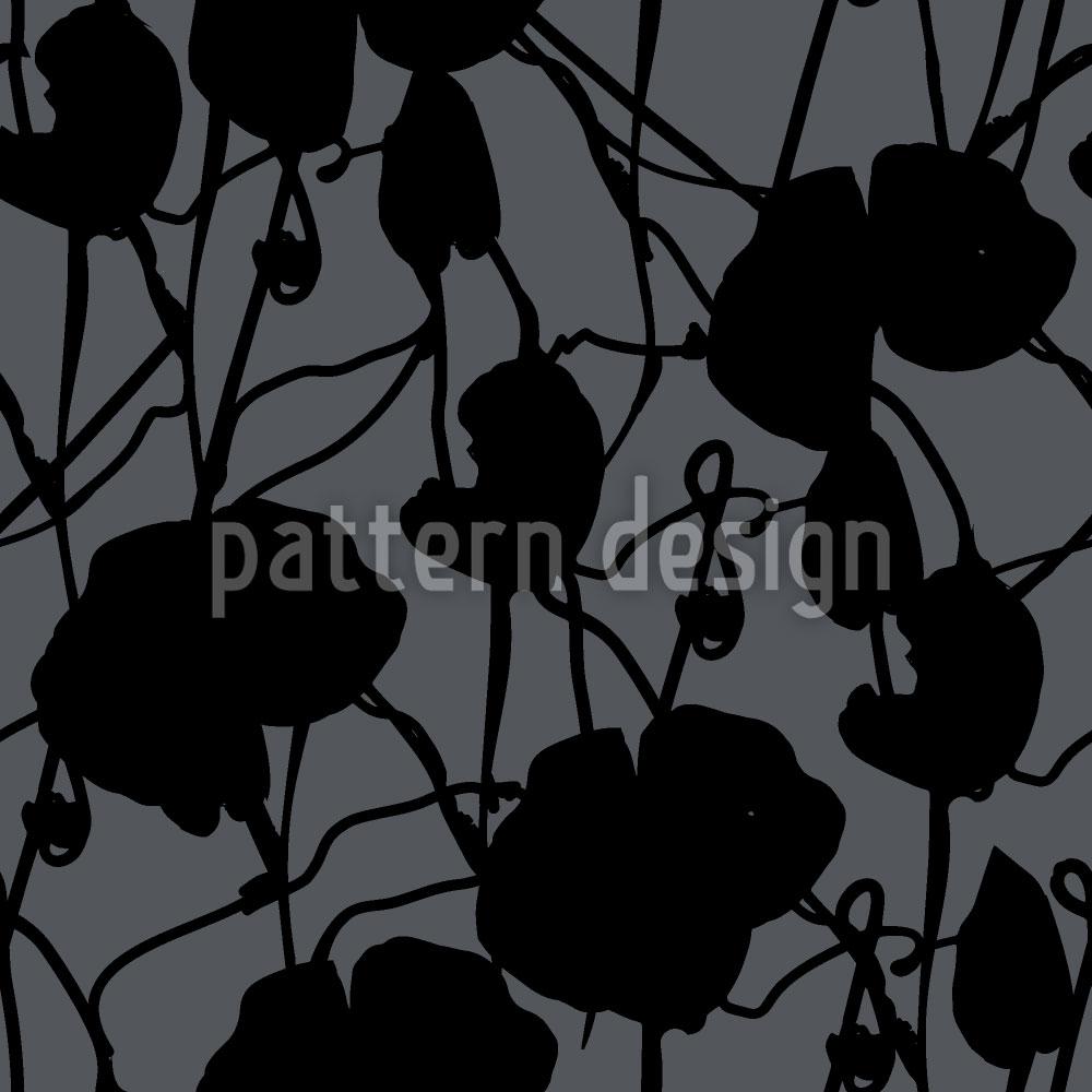 Designtapete Tusche Flora