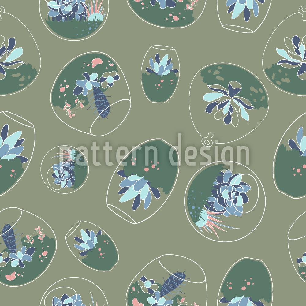 Designtapete Sukkulenten Unter Glas