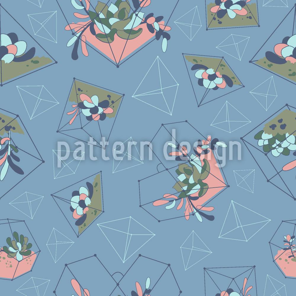 Designtapete Sukkulenten Geometrie
