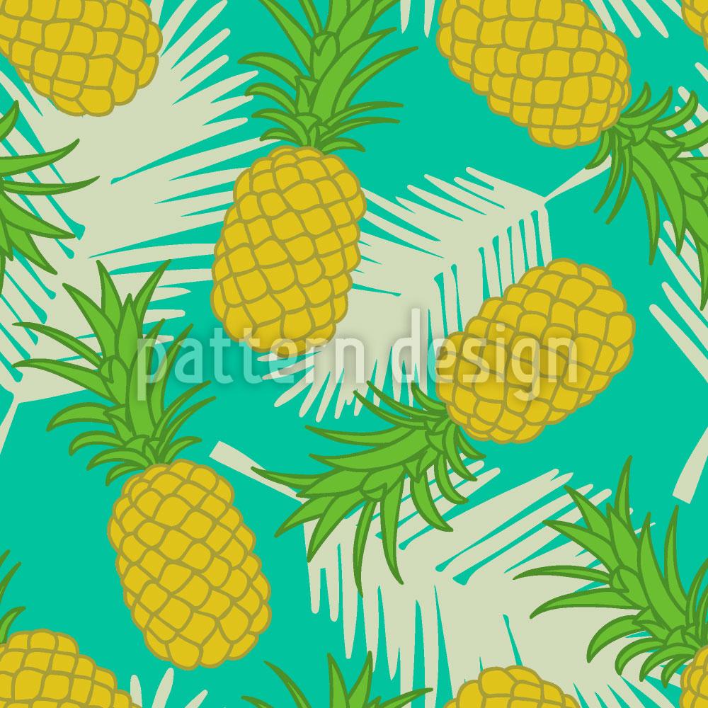 Designtapete Ananas Tropicana
