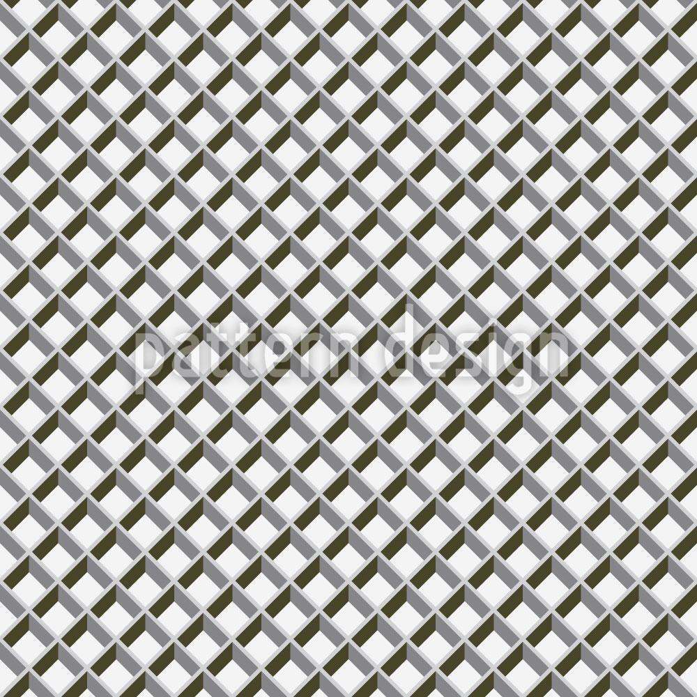 Designtapete Metall Gitter