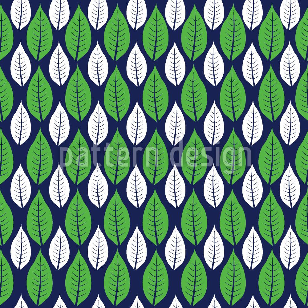 Designtapete Blätter Zählen