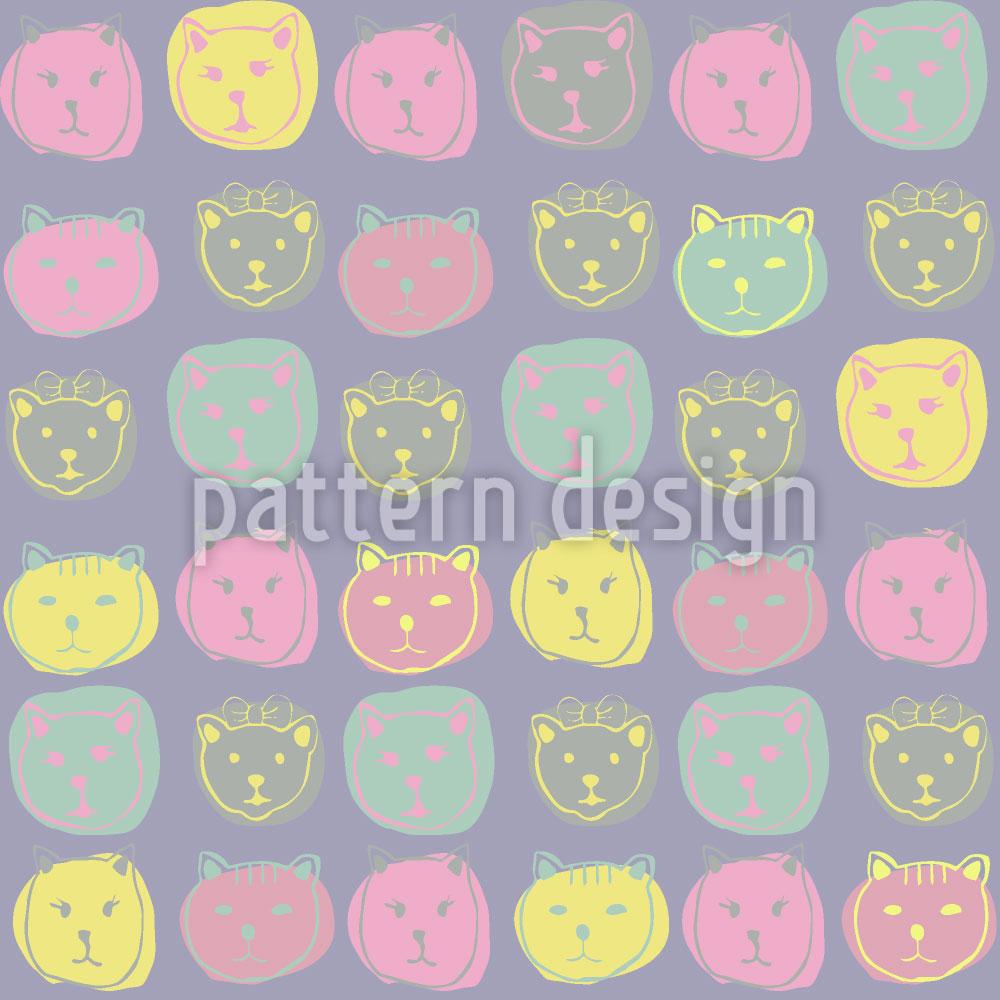 Designtapete Katzen Portrait