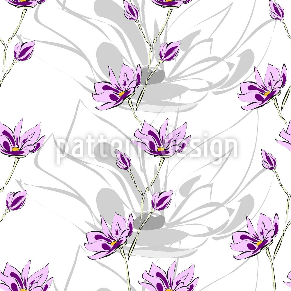 Designtapete Magnolien Blüten