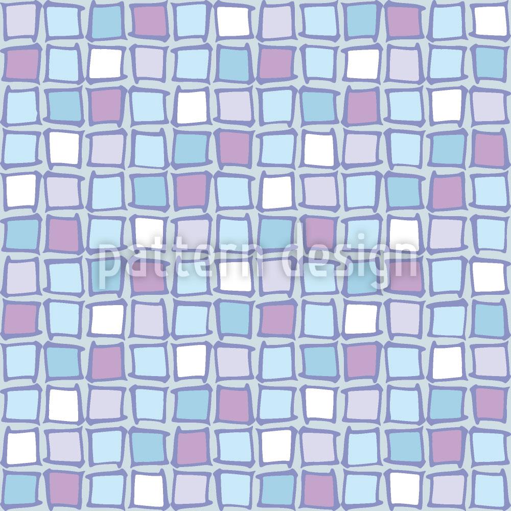 Designtapete Mosaik Glas Quadrate