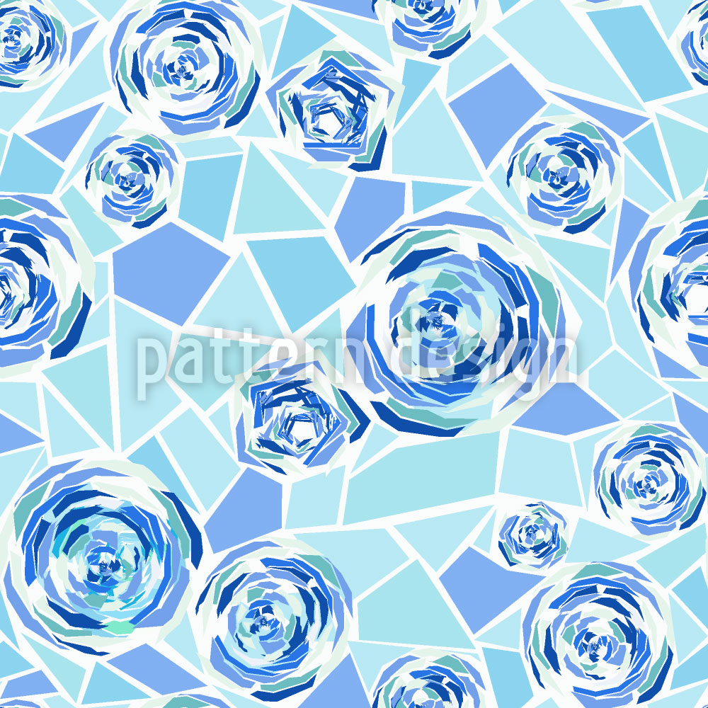 Designtapete Rosen Mosaik