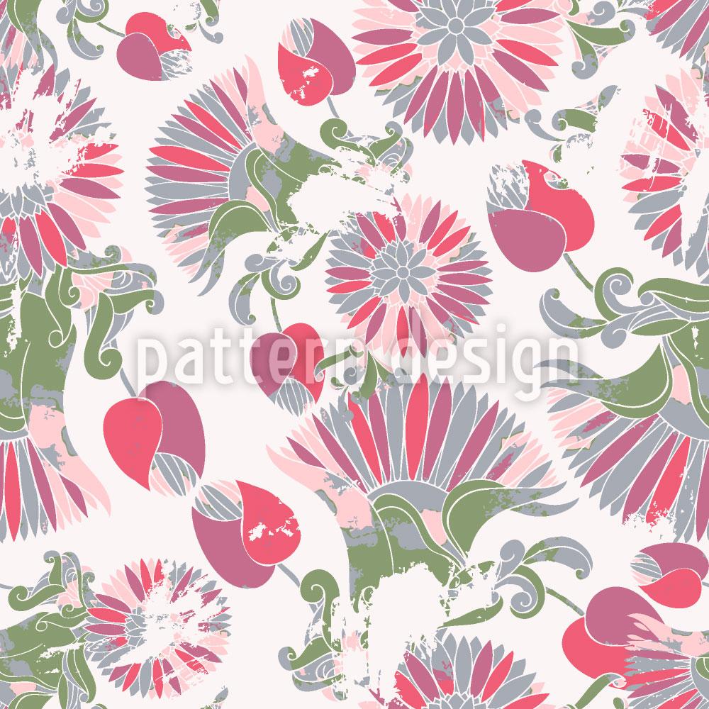 Designtapete Geometrische Sommerblumen
