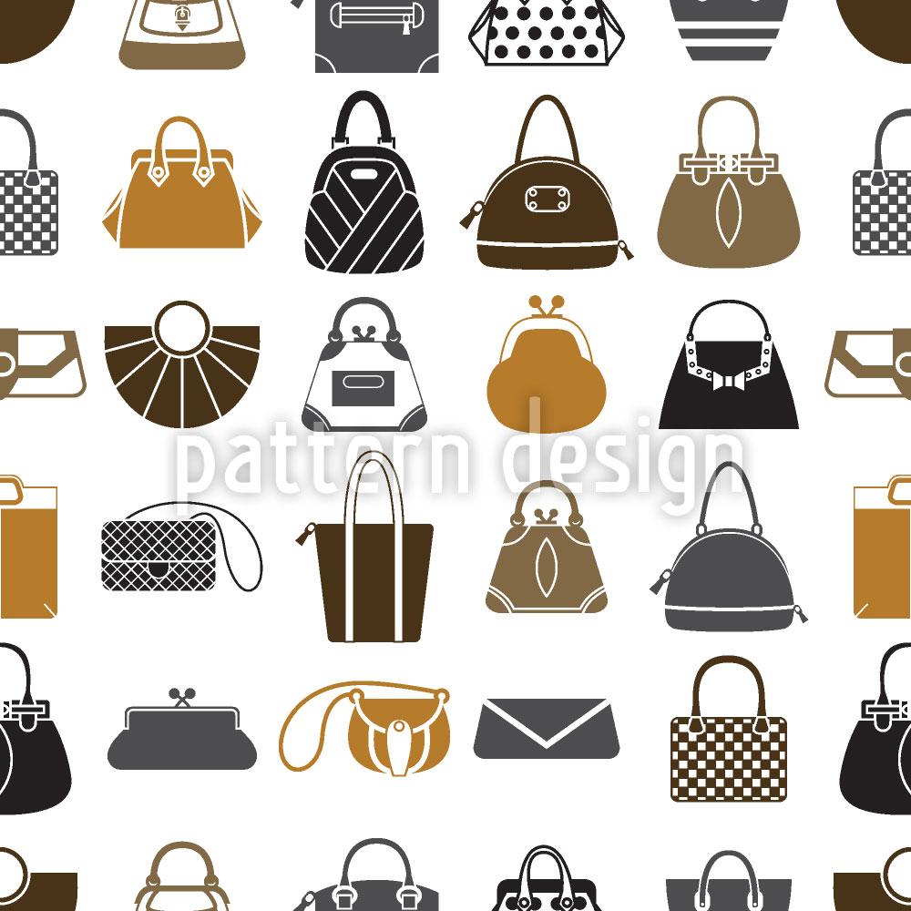 Designtapete Taschen Sammlung