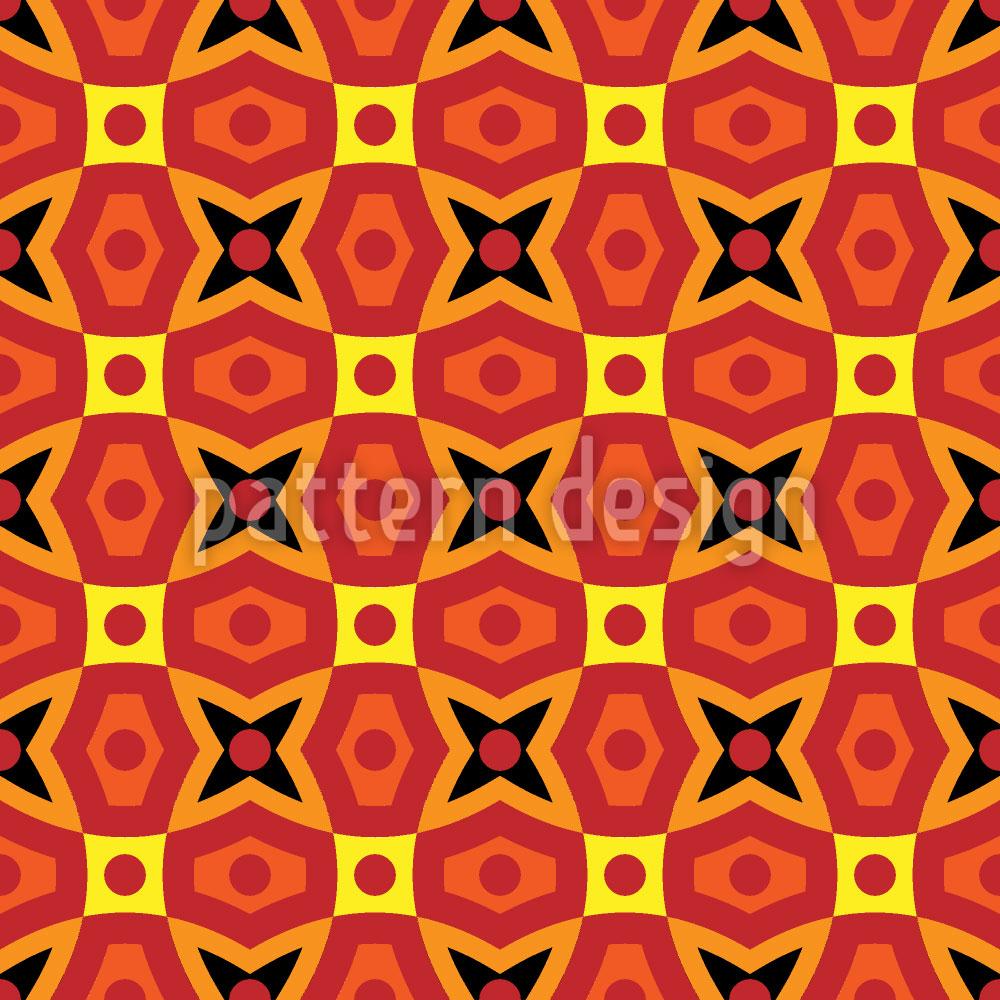 Designtapete Afrikanische Geometrie