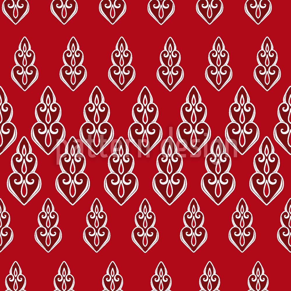 Designtapete Delilahs Nacht Rot