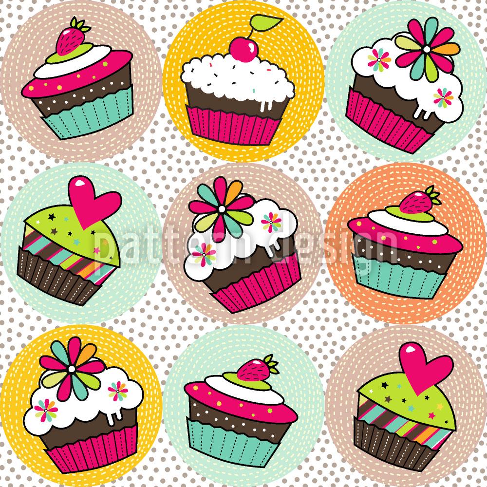 Designtapete Cupcake Variationen