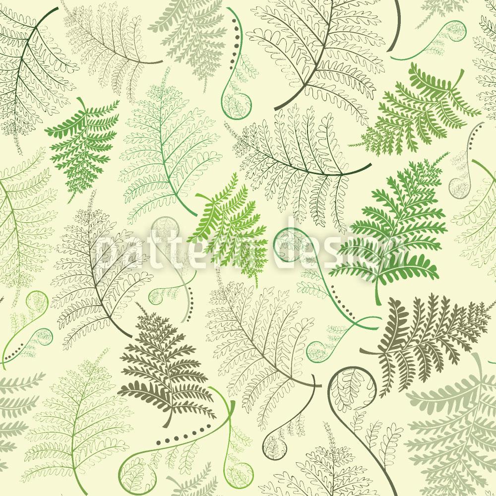 Designtapete Farn Blätter