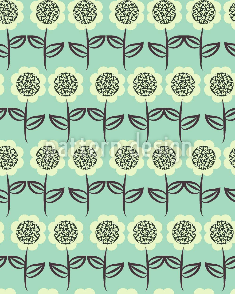 Designtapete Sonnenblumen Reihen