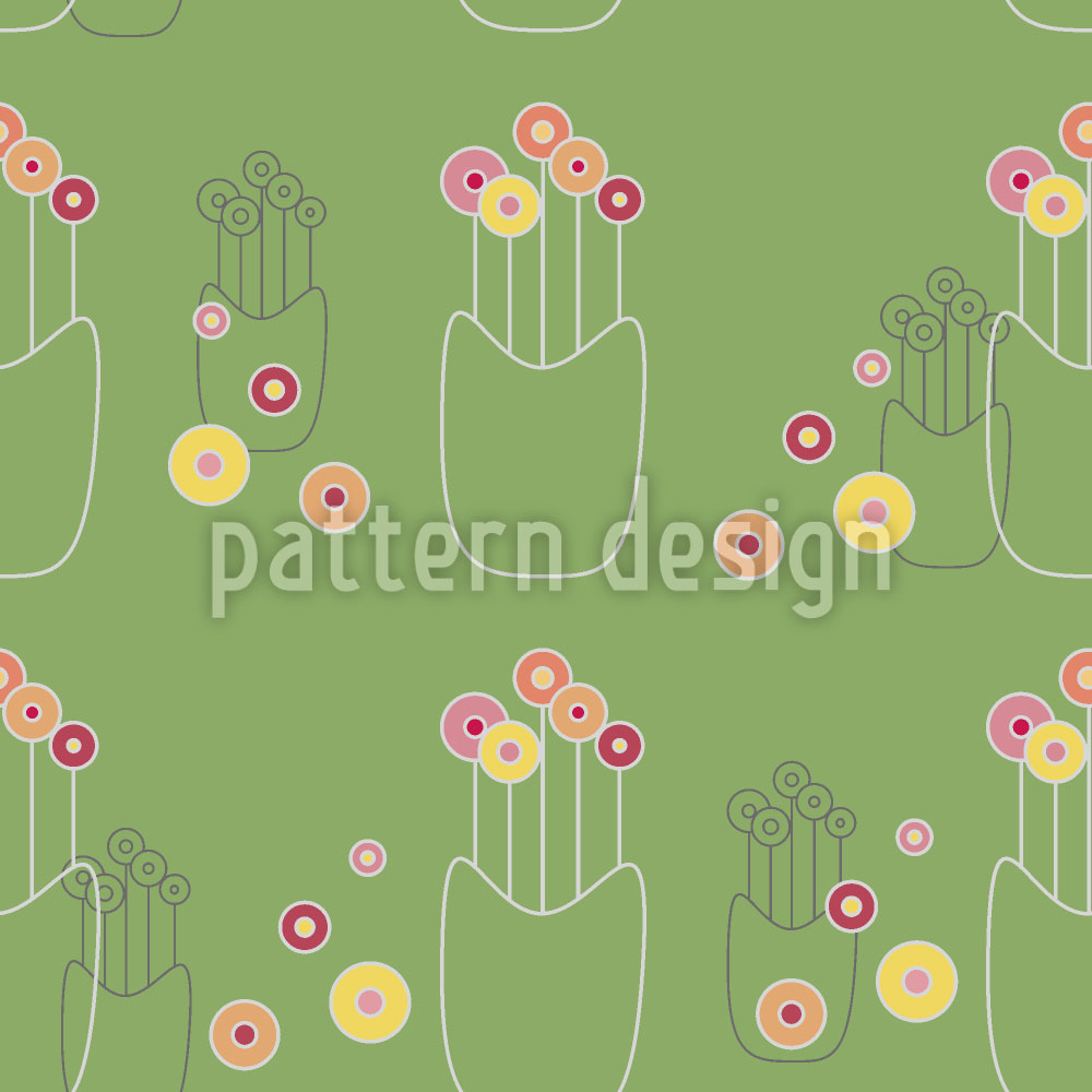 Designtapete Blumenvase