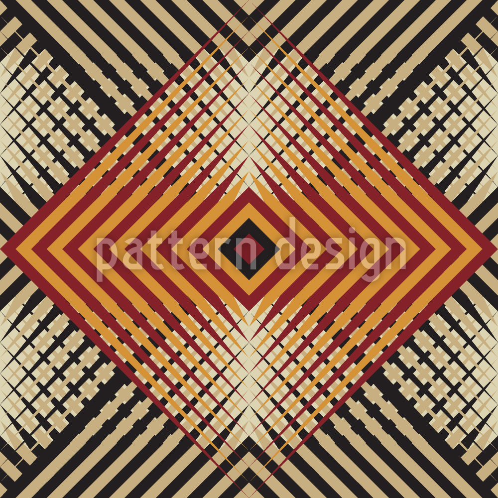 Designtapete Eine Geometrische Studie