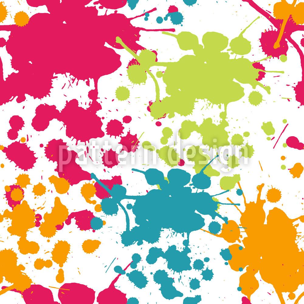 Designtapete Sprühfarben Spritzer