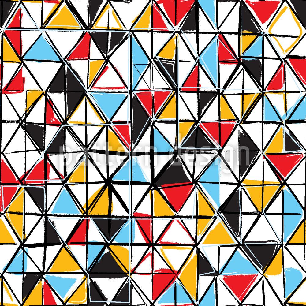Designtapete Dreieck Facetten