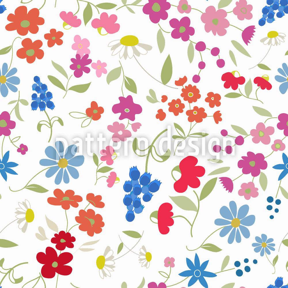 Designtapete Mein Blumen Mix
