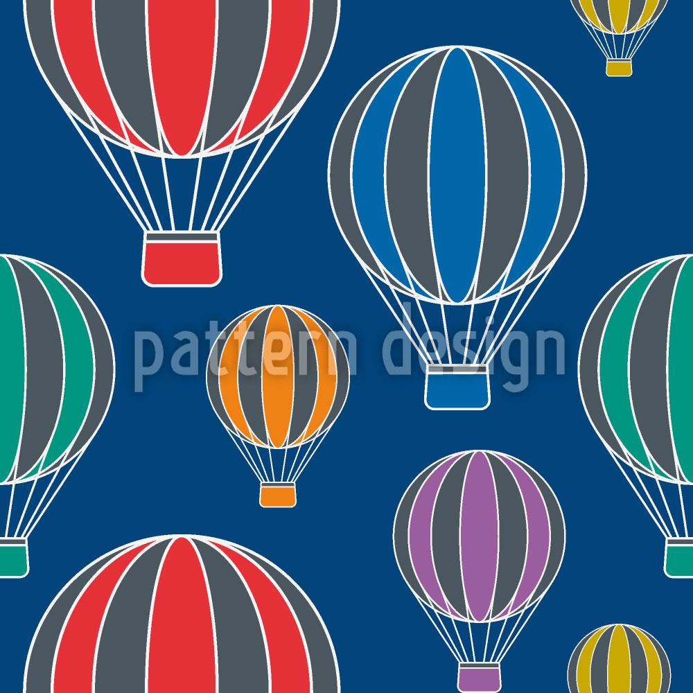 Designtapete Ballonfahrt In Der Nacht
