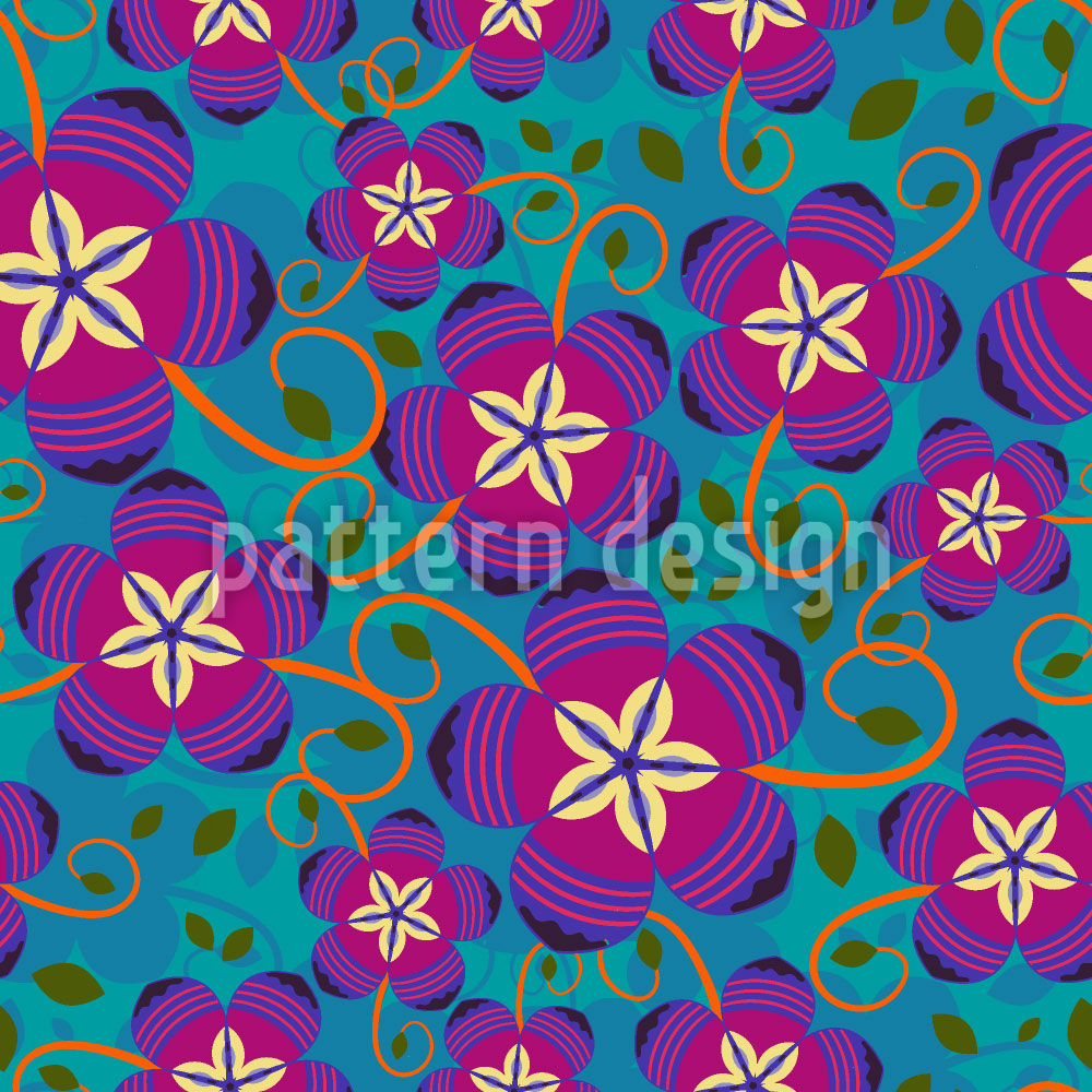 Designtapete Funky Flowers