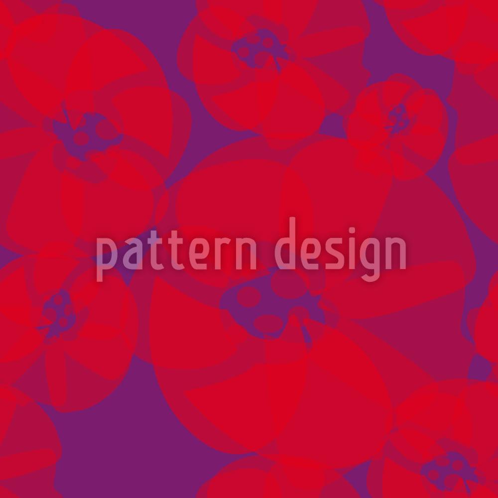 Designtapete Mohnblumen Pop Art