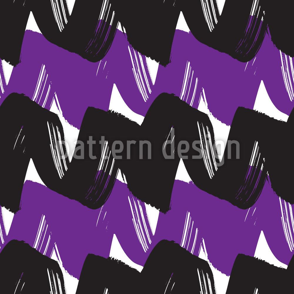 Designtapete Zweifarbige Welle