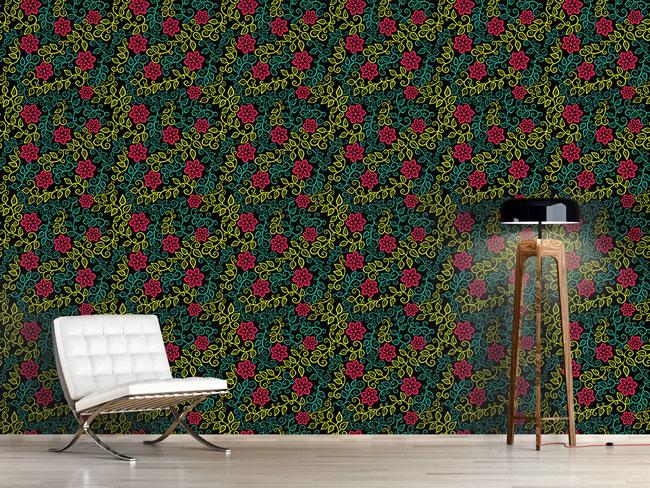 Designtapete Sternblumen Garten