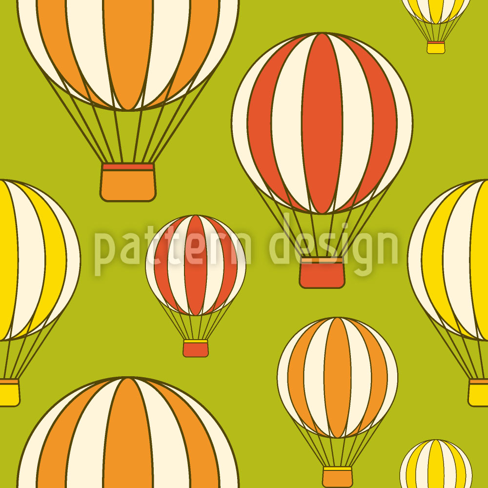 Designtapete Ballonfahrt ins Grüne