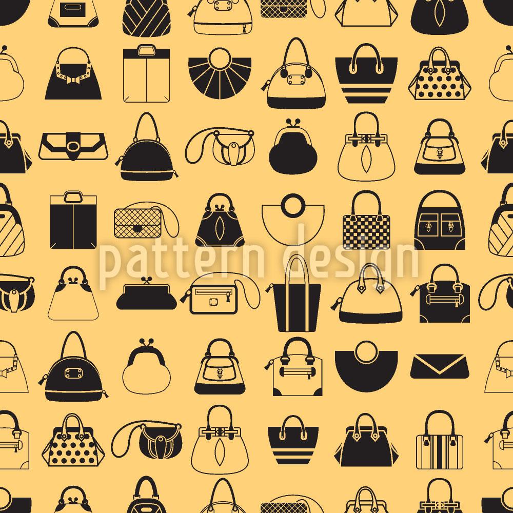 Designtapete Taschen Sammler