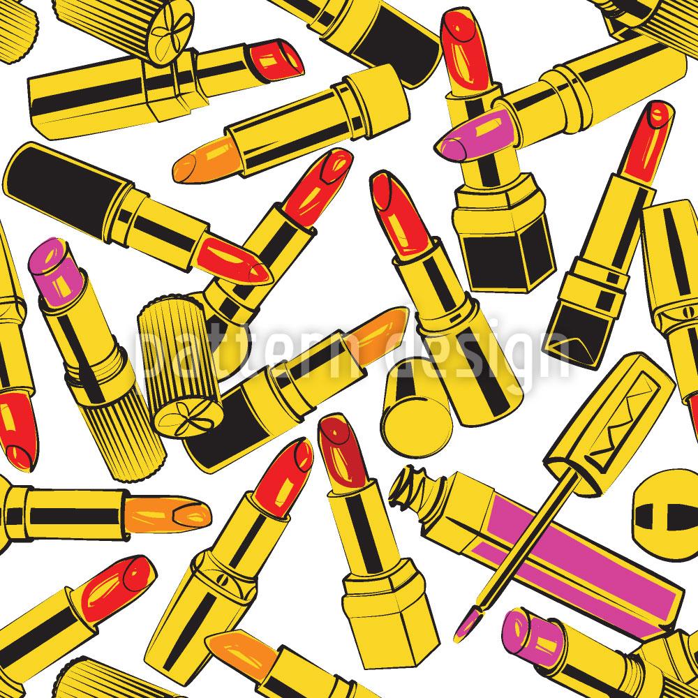 Designtapete Lippenstift Obsession
