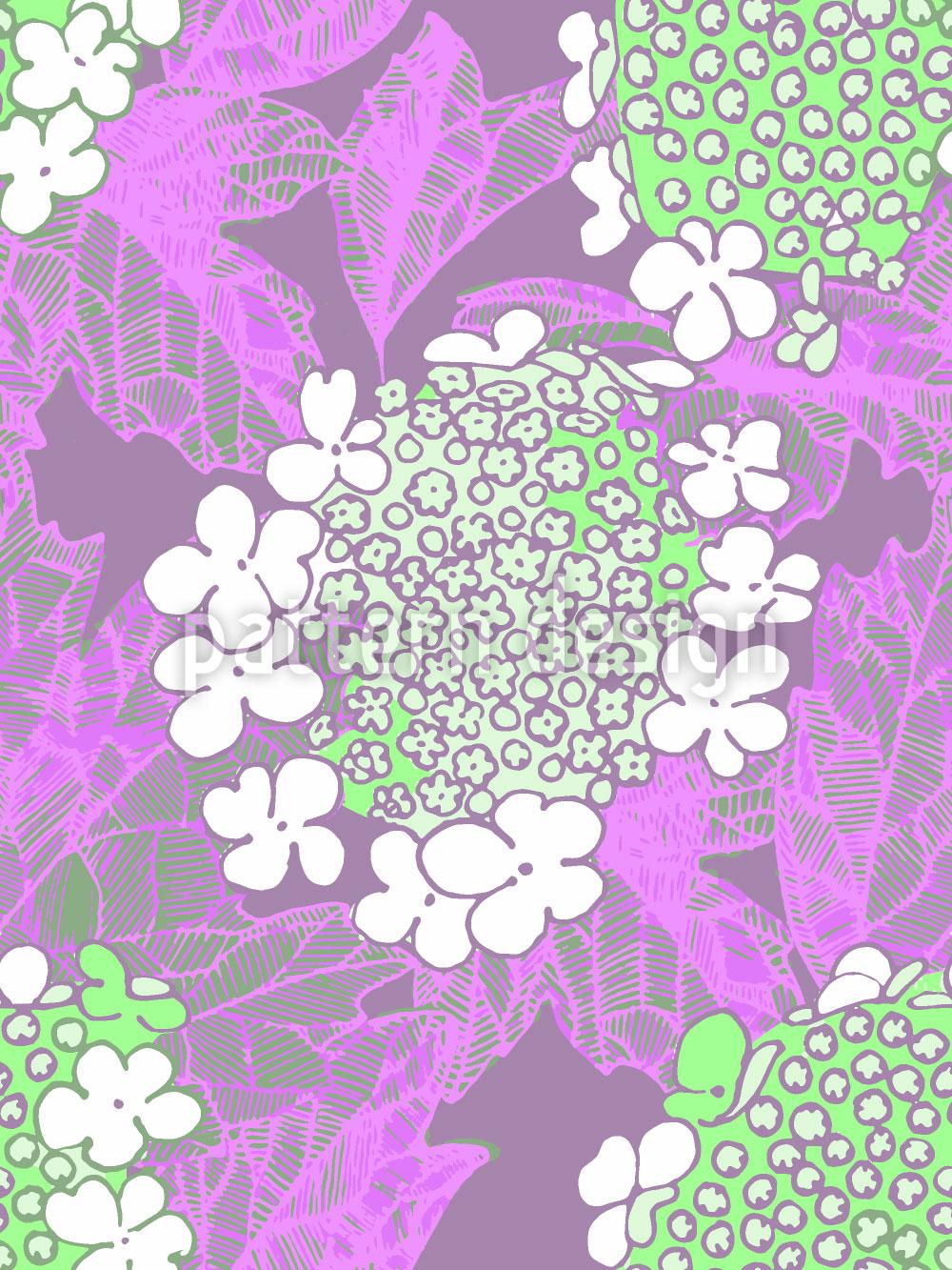 Designtapete Schneeballblüte