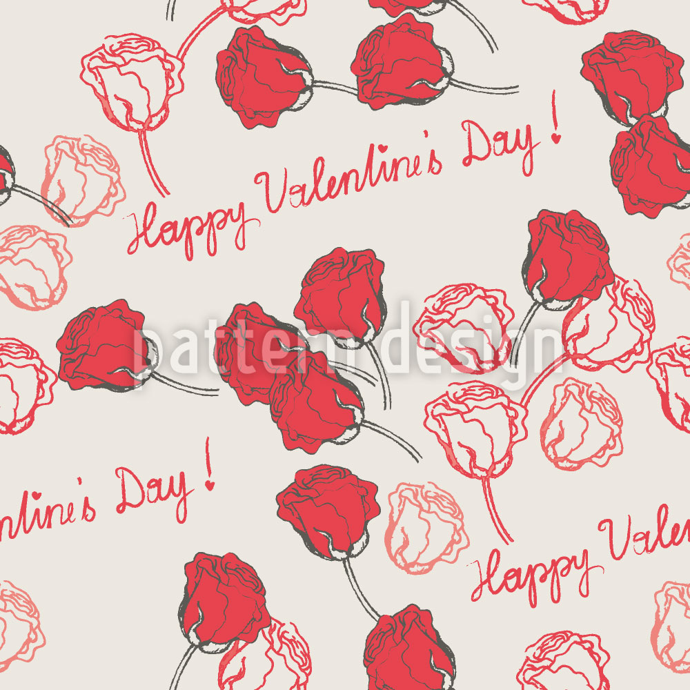 Designtapete Valentinstag Rosen