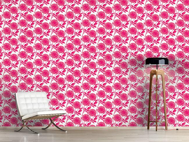 Designtapete Rosen In Voller Blüte