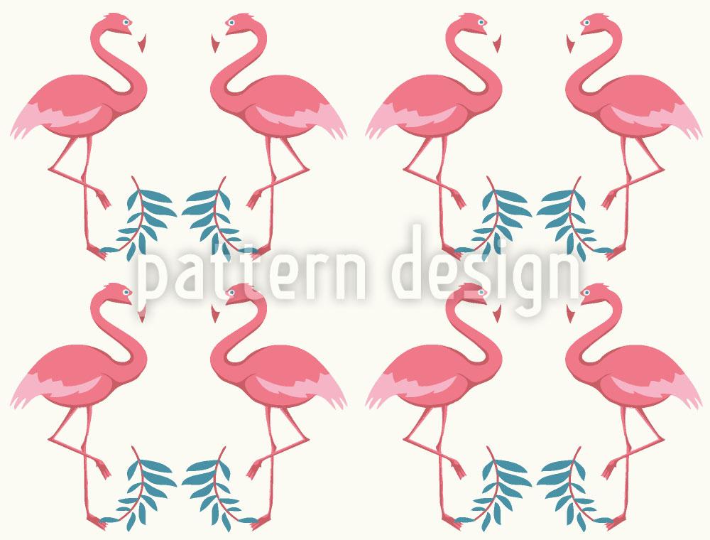 Designtapete Flamingo Tanz