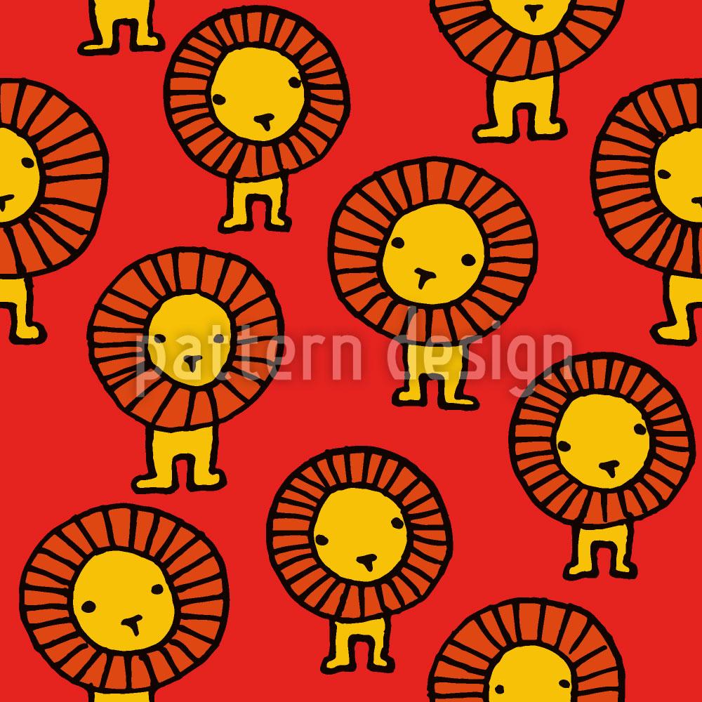 Designtapete Löwen