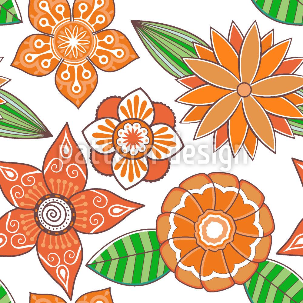 Designtapete Sommerblüte