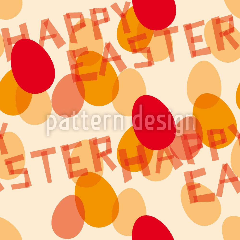 Designtapete Frohe Ostern Rot