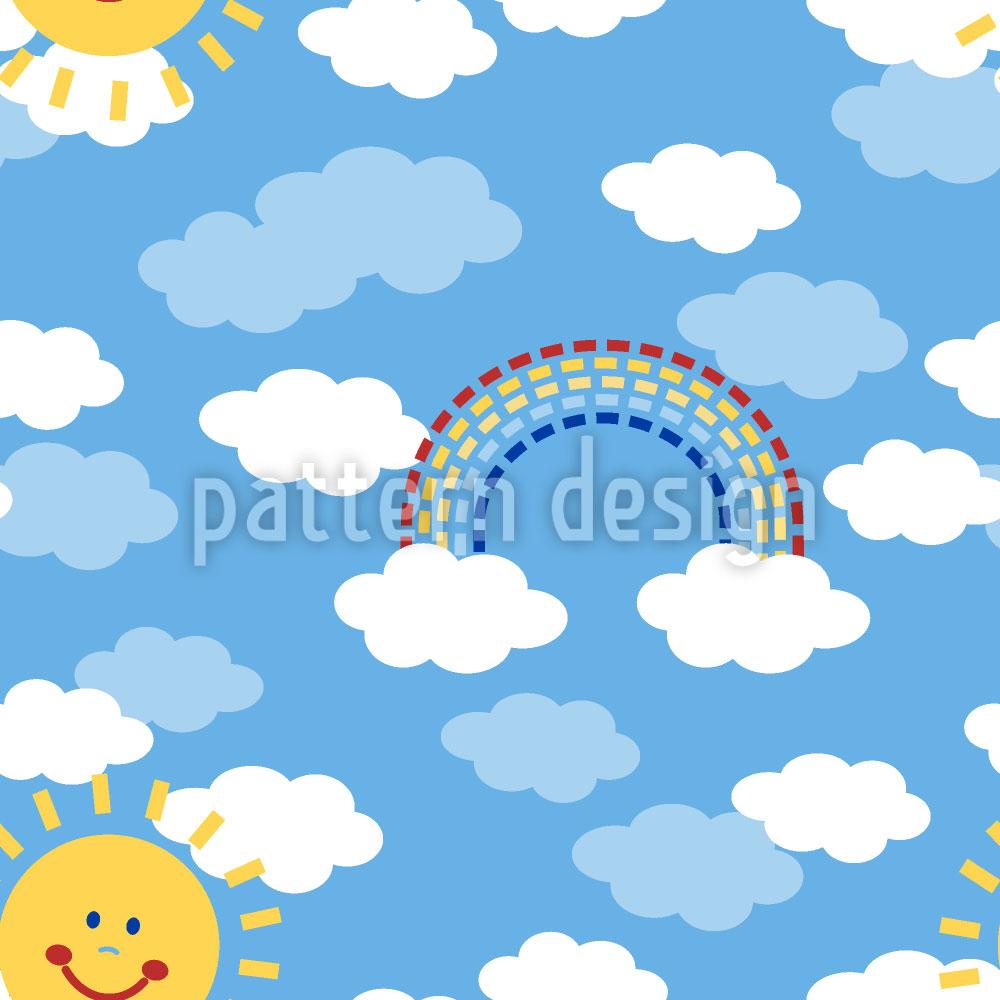 Designtapete Sonnenschein Und Regenbogen