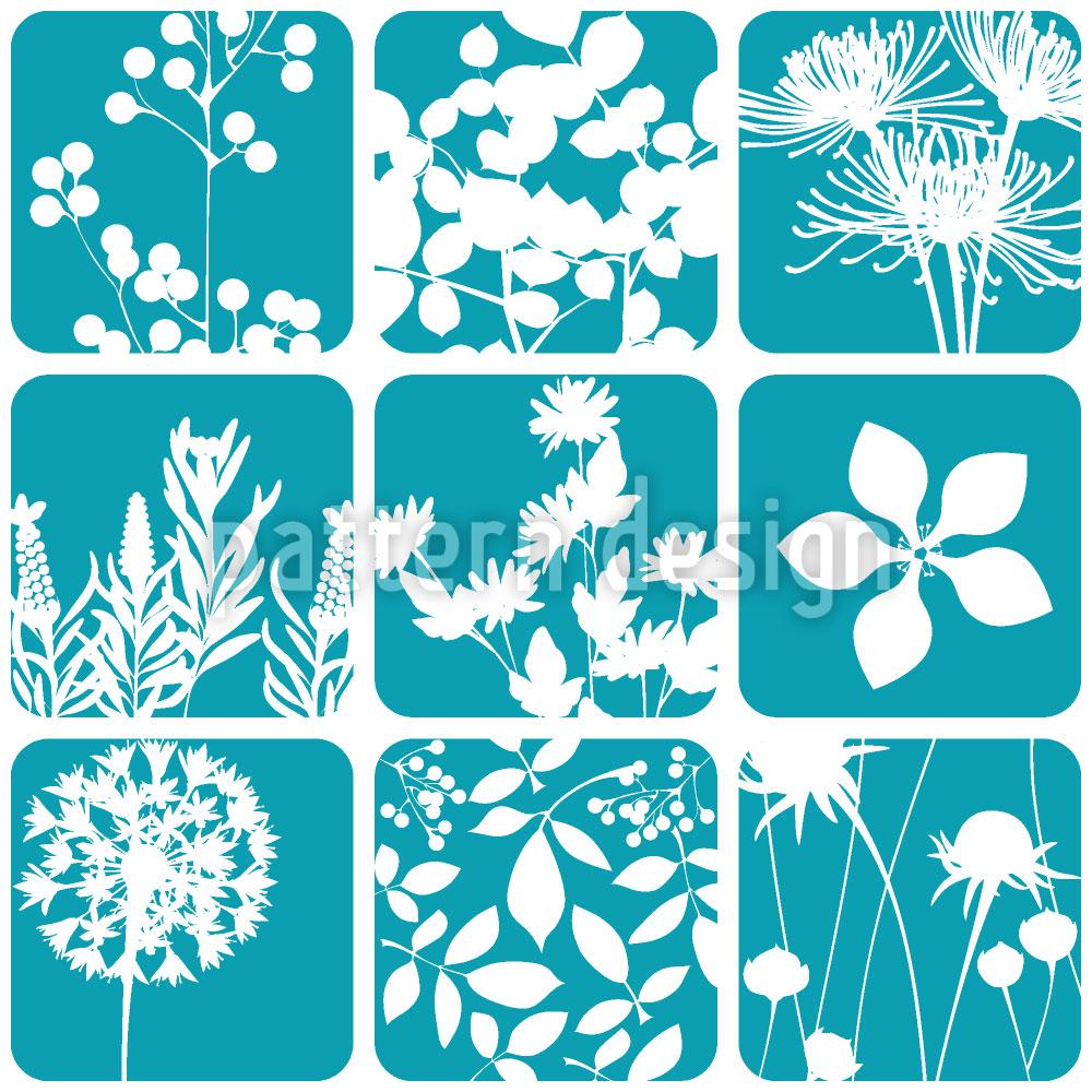 Designtapete Blumen Zum Quadrat