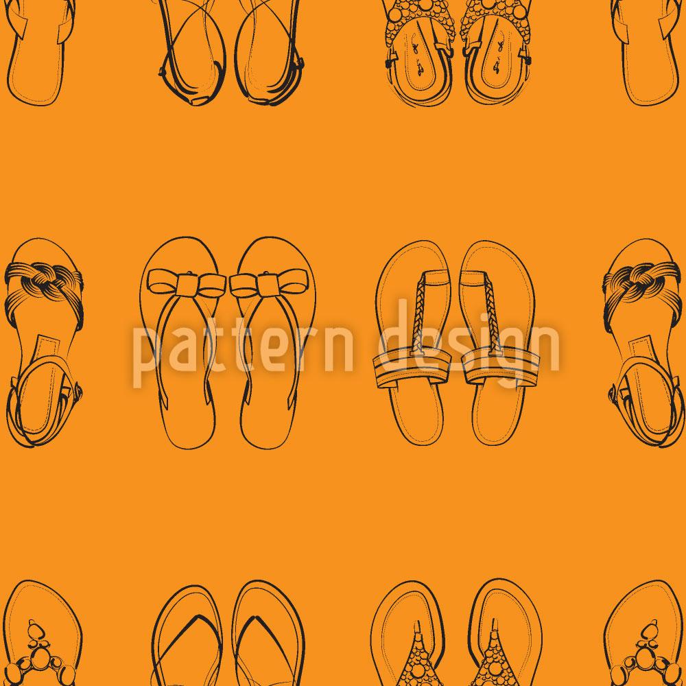 Designtapete Ich Trag Nur Sandalen