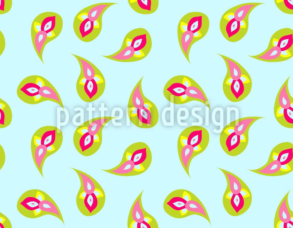 Designtapete Paisley Pop
