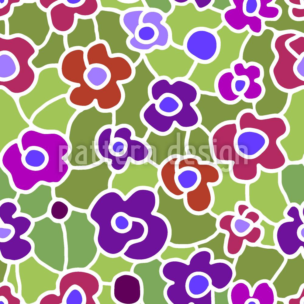 Designtapete Blumenwiese