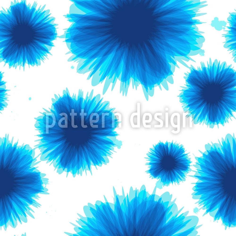 Designtapete Blumen Kleckse