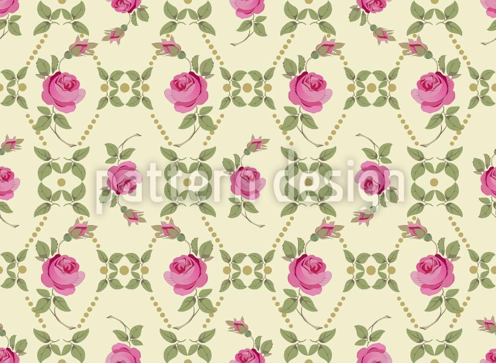 Designtapete Vintage Rosen